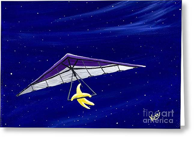 Hang Gliding Star Greeting Card