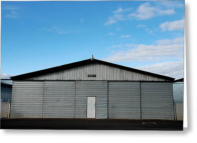 Greeting Card featuring the photograph Hangar 2 The Building by Kathleen Grace