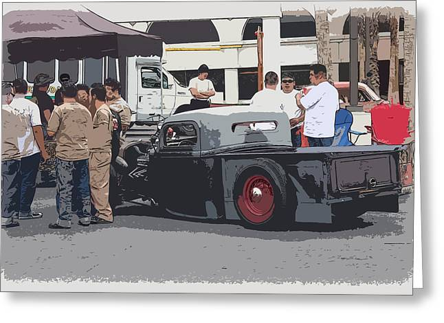 Hanging At The Car Show Greeting Card by Steve McKinzie