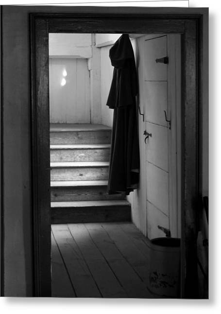 Hanging Cloak Greeting Card by Ed Bertorello