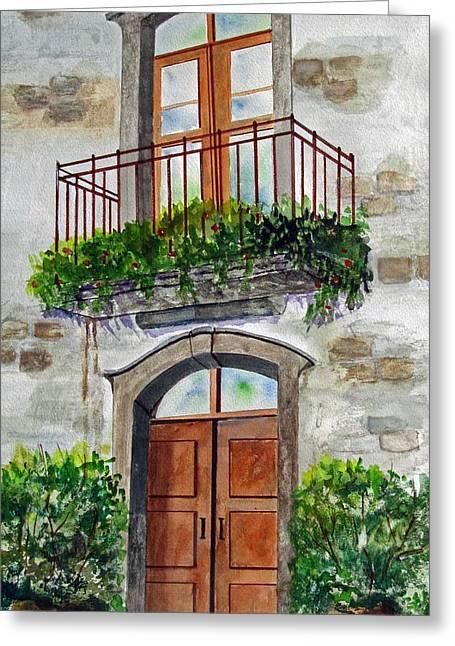 Hanging Garden Greeting Card by Heidi Patricio-Nadon