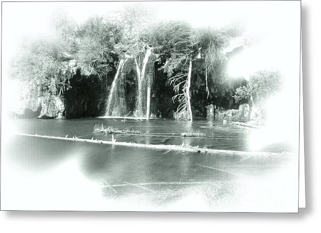 Hanging Lake Greeting Card by Ellen Heaverlo