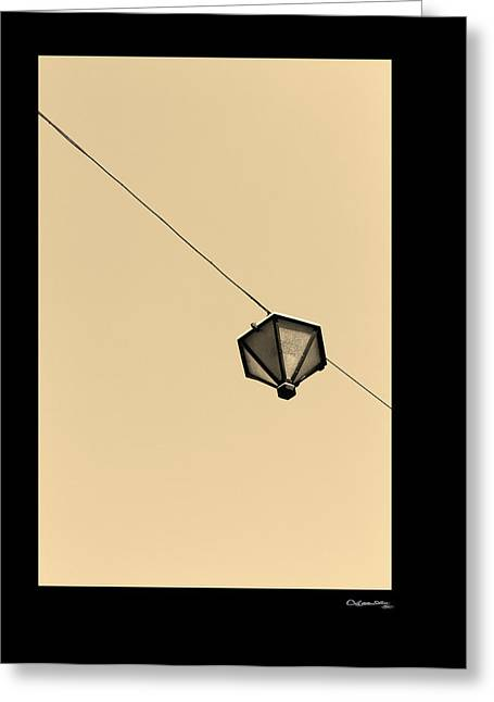 Hanging Light Greeting Card by Xoanxo Cespon