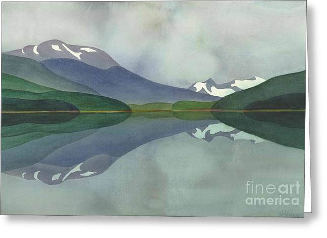 Hankin Lake Greeting Card by Anne Havard