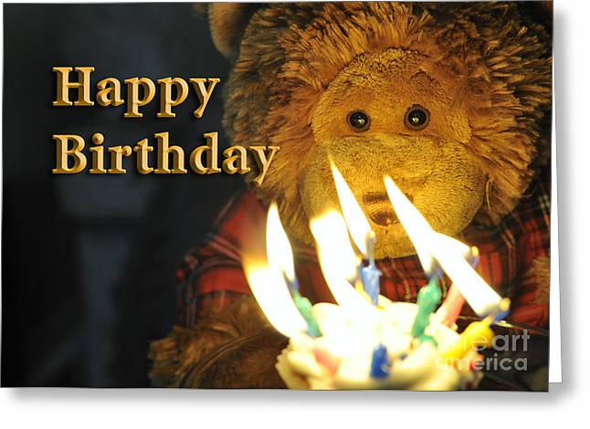 Happy Birthday Bear 2 Greeting Card