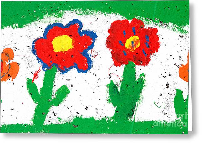 Happy Colorful Flowers Greeting Card by Gaspar Avila