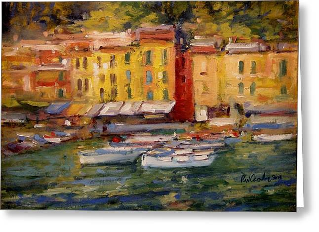 Happy Day In Italy Greeting Card by R W Goetting