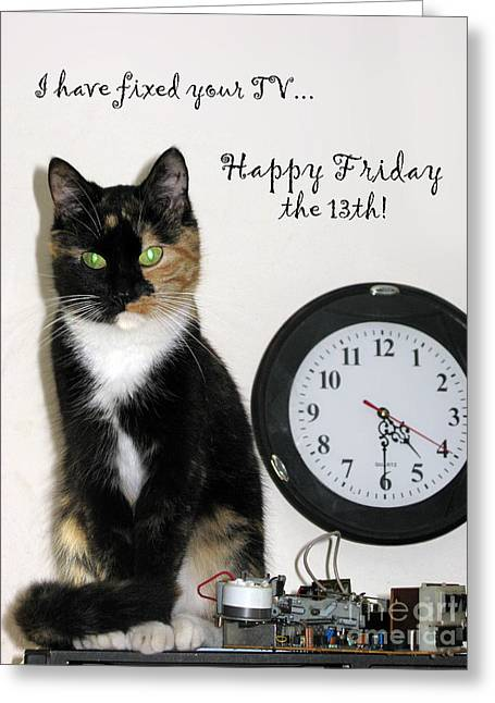 Greeting Card featuring the photograph Happy Friday The 13th by Ausra Huntington nee Paulauskaite