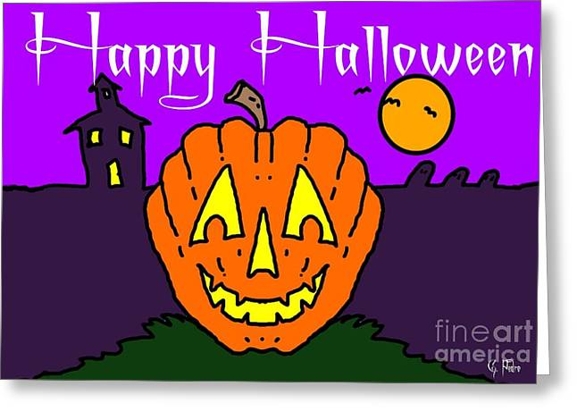 Happy Halloween 2 Greeting Card by George Pedro