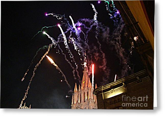 Greeting Card featuring the photograph Happy New Year by John  Kolenberg