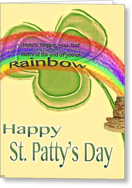 Happy St.patty's Day Rainbow Greeting Card