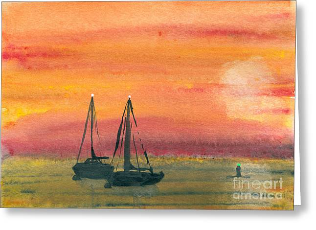 Harbor Colors Greeting Card by R Kyllo