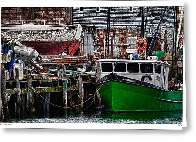 Harbor Dock Greeting Card by Richard Bean