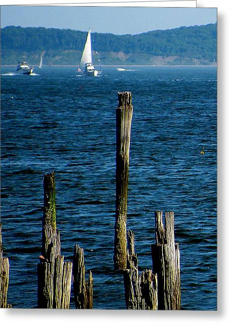 Harbor Islands  Greeting Card by Jeff Heimlich