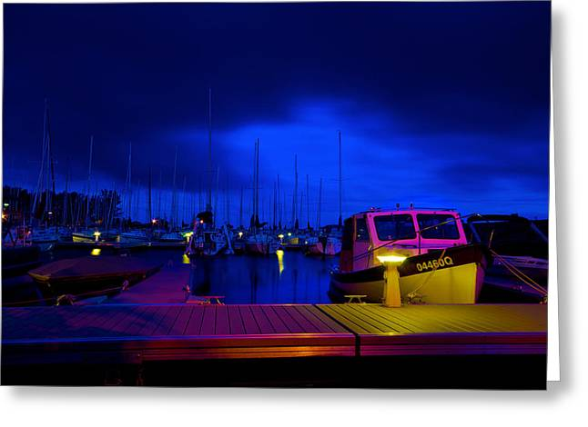 Harbor Nights Greeting Card