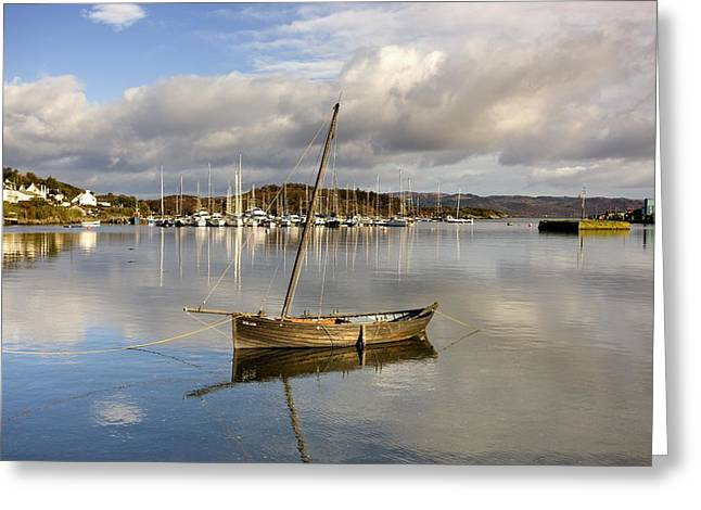 Harbour In Tarbert Scotland, Uk Greeting Card