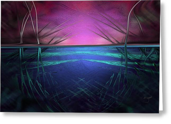 Greeting Card featuring the digital art Hard Shoes by Steve Sperry