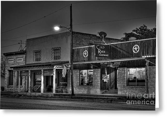Hardware Store In Small Town Usa Greeting Card by Andre Babiak