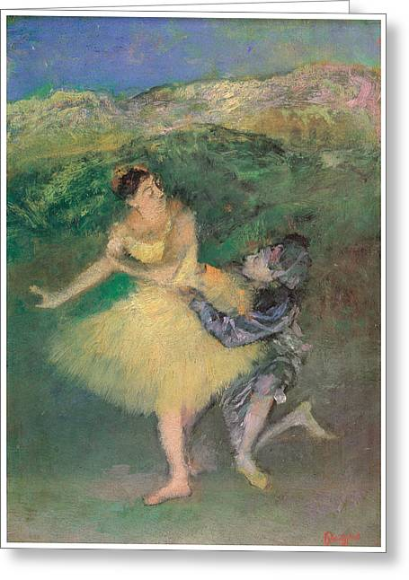 Harlequin And Colombine Greeting Card by Edgar Degas