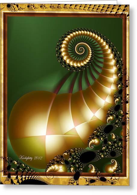 Harlequin Spirals Greeting Card