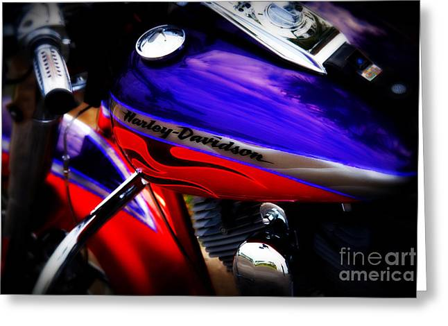 Harley Addiction Greeting Card by Susanne Van Hulst