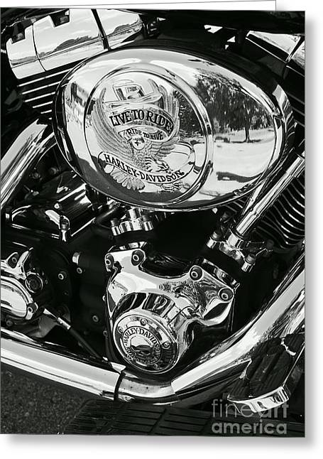 Harley Davidson Bike - Chrome Parts 02 Greeting Card