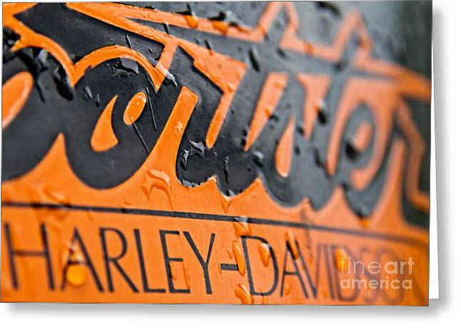 Harley Davidson Logo Greeting Card by Stelios Kleanthous