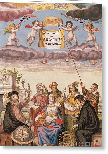 Harmonia Macrocosmica Frontispiece Greeting Card