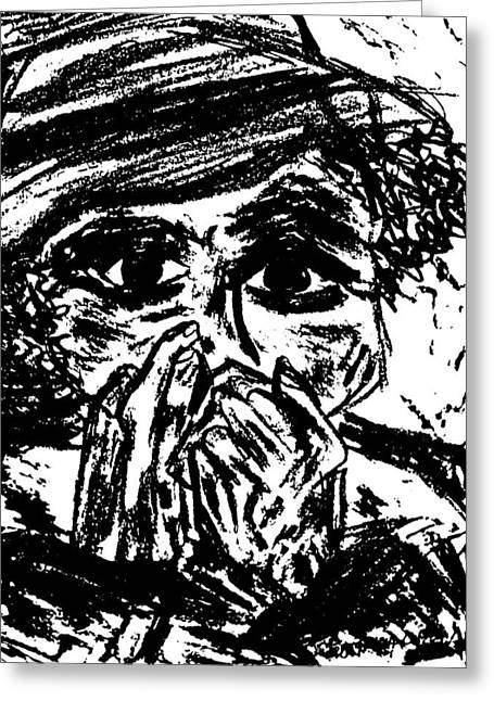 Harmonica Blues Player Greeting Card by Peggy Leyva Conley