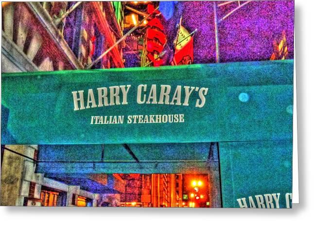 Harry Caray's Greeting Card by Barry R Jones Jr