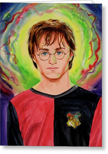 Harry Potter Greeting Card by Ken Meyer
