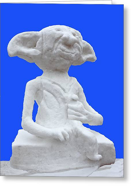 Harry Potters Dobby In Snow Greeting Card by LeeAnn McLaneGoetz McLaneGoetzStudioLLCcom
