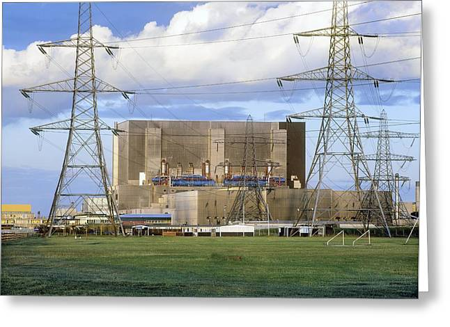 Hartlepool Nuclear Power Station Greeting Card