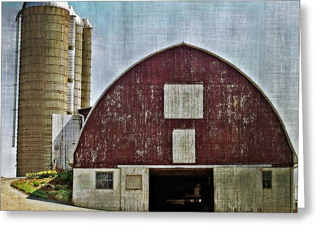 Harvest Barn Greeting Card by Kathy Jennings