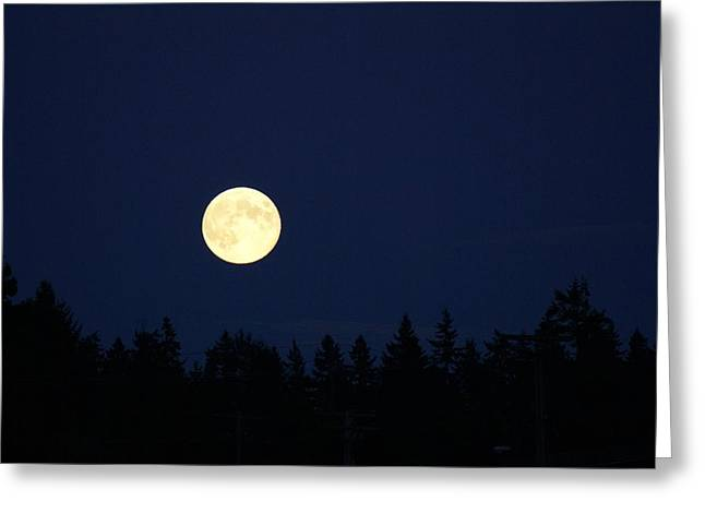 Harvest Moon Greeting Card by Jerry Cahill