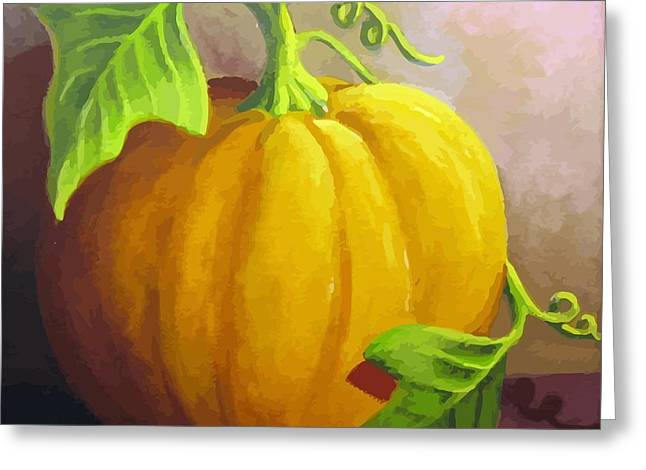 Harvest Prize Greeting Card by Sharon Marcella Marston