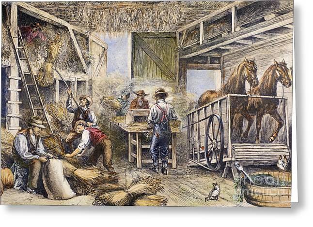 Harvesting, 1879 Greeting Card by Granger