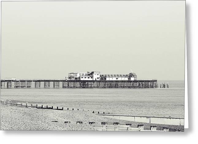 Hastings Pier Greeting Card by Sharon Lisa Clarke
