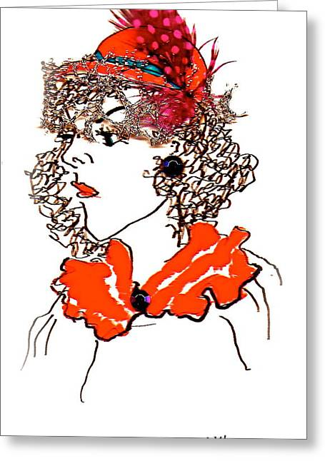 Hat Lady 7 Greeting Card by Bettye  Harwell