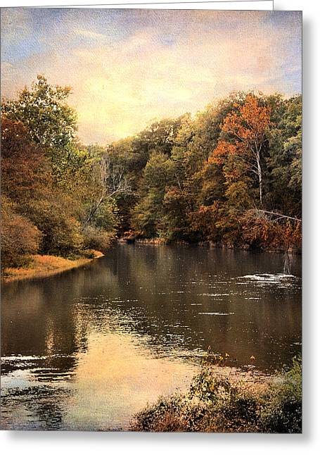 Hatchie River Greeting Card by Jai Johnson