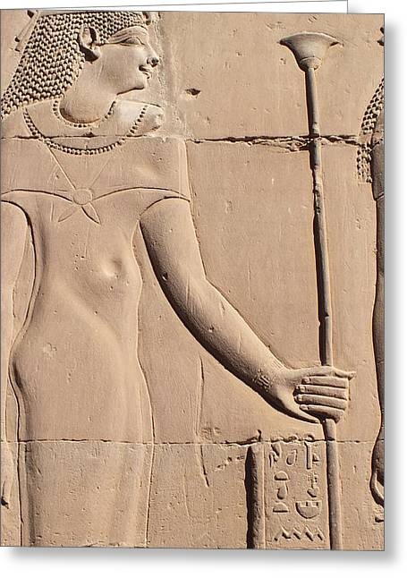 Hathor Greeting Card by Emma Manners