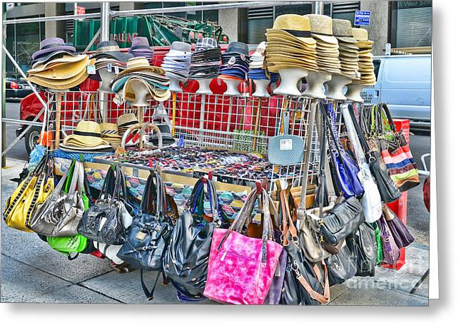 Hats And Handbags Greeting Card by Paul Ward