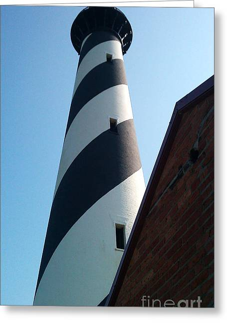Hatteras Light Greeting Card by Tony Cooper