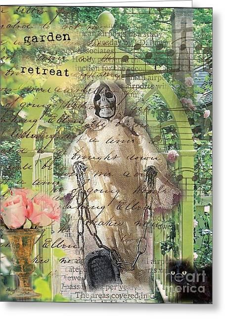 Haunted Garden Retreat Greeting Card