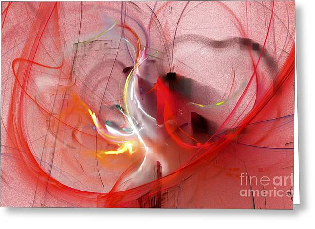 Greeting Card featuring the digital art Haunted Hearts by Victoria Harrington
