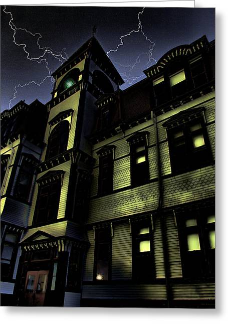 Haunted House Greeting Card by Mark Sellers