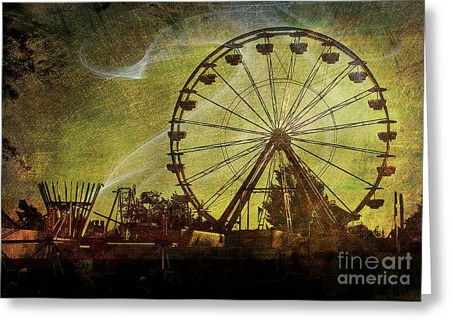 Haunted Midway Greeting Card