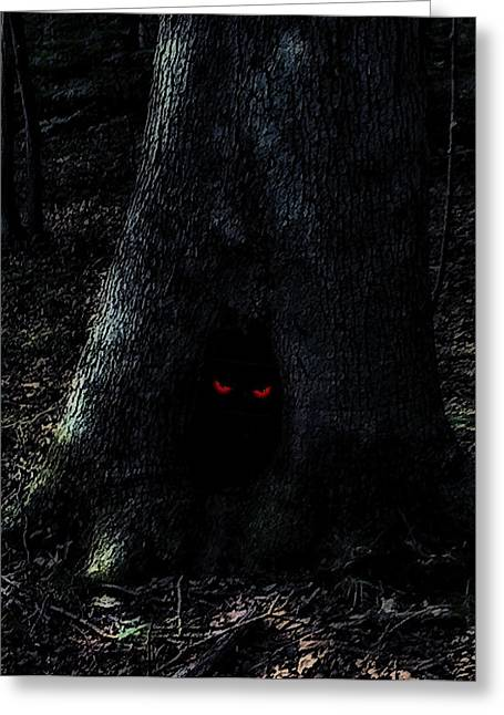 Haunted Tree Greeting Card by Walt Stoneburner