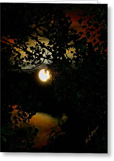 Greeting Card featuring the photograph Haunting Moon IIi by Jeanette C Landstrom