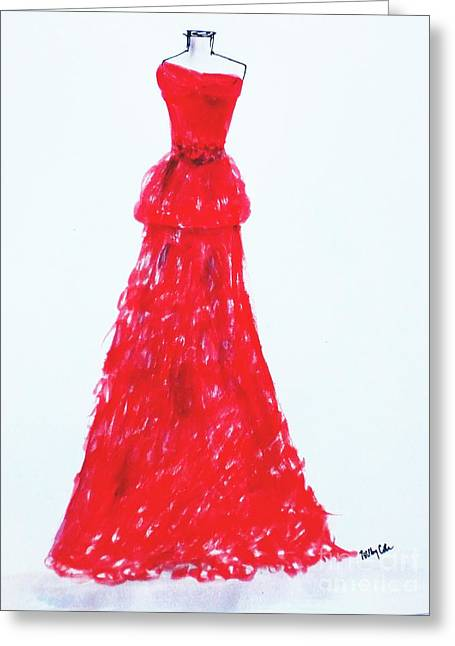 Haute Couture Greeting Card by Trilby Cole